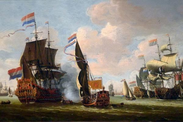 the dutch fleet in the harbour of amsterdam abraham storck